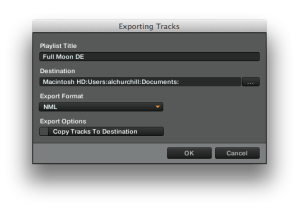 Exporting playlist in Traktor