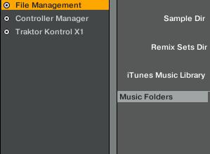 Music Folder location