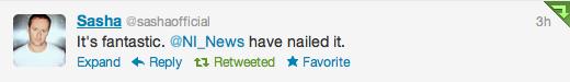 Sasha tweets about pioneer and traktor says NI nailed it