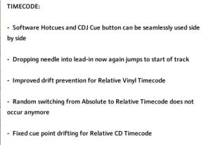 traktor timecode changes