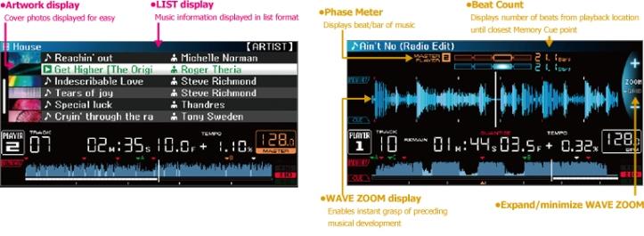 Pioneer CDJ 2000 Nexus Screen display in colour