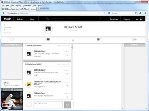 mixlr-broadcast-page