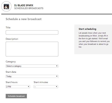 mixlr-broadcast-schedule